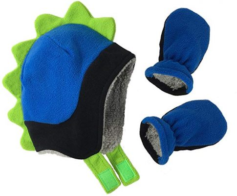 N'Ice Caps Little Boys and Baby Soft Sherpa Lined Fleece Dino Hat Mitten Set Review