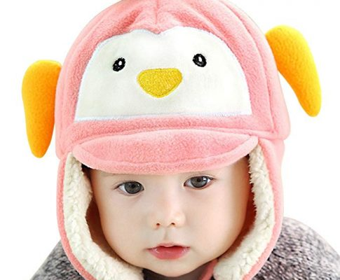 Lean In Baby Girls/Boys Winter Warm Penguin Earflap Hats Caps Infant Beanie Fleece Hem – 2016 best gift in USA Review