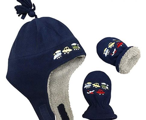 N'Ice Caps Little Boys and Baby Sherpa Lined Fleece Embroidered Hat Mitten Set Review