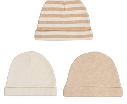Niteo Organic Cotton Baby Caps, Luxuriously-Soft, All Natural, Dye-Free, 3-Pack Review