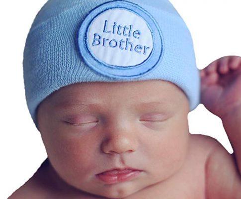 Melondipity Little Brother Newborn Boy Hospital Hat Blue Hospital Hat Nursery Hat Review