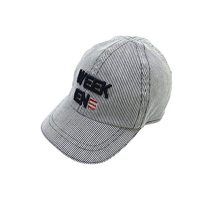 HUIXIANG Unisex Baby Toddler Kid Adjustable Baseball Hats-Striped Embroideryed Pattern