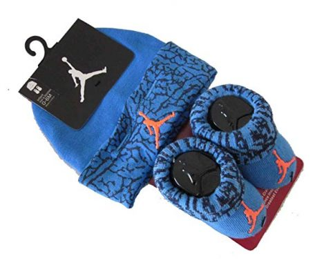 Baby Boy Nike Air Jordan Booties and Beanie Set Review