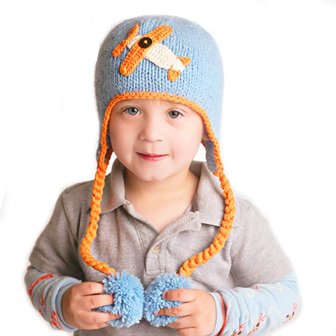 Huggalugs Baby and Toddler Boys Blue Sky Rider Beanie Hat