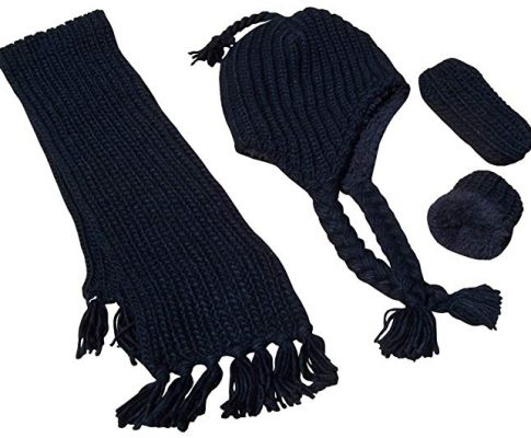 N'Ice Caps Boys and Baby Bulky Knit 3PC Hat/Scarf/Mitten Set with Sherpa Lining Review