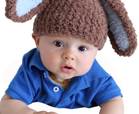 Melondipity Boys Handmade Soft Brown & Blue Easter Bunny Beanie Crochet Baby Hat Review