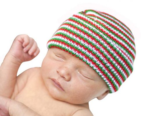 Melondipity St Nick Newborn Hospital Cap Baby Hat – Striped Christmas Beanie Review