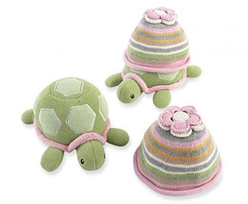Baby Aspen Turtle Toppers Baby Hat and Turtle Plush Gift Set, Pink (Discontinued by Manufacturer) Review